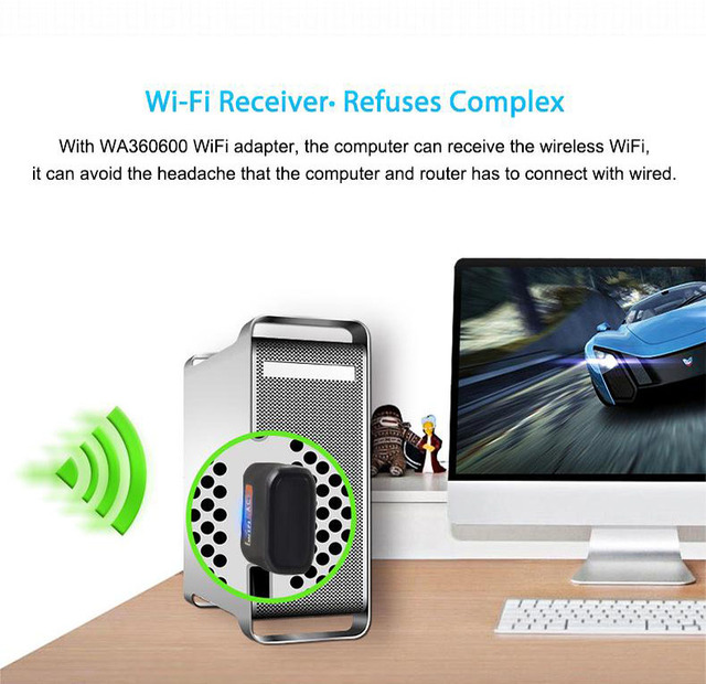 Wireless USB WiFi Adapter 600Mbps wi fi Dongle PC Network Card Dual Band wifi 5 Ghz Adapter Lan USB Ethernet Receiver AC Wi-fi 3