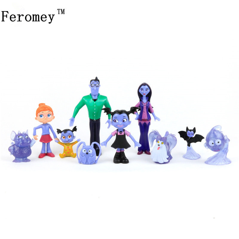 New Vampirina The Vamp Batwoman Girl Action Figures Toy Children Kids Gift The Vamp Batwoman Action Toys hot 9pcs lot anime junior vampirina the vamp batwoman girl action toy figure pvc model toys for kids christmas birthday gift hot