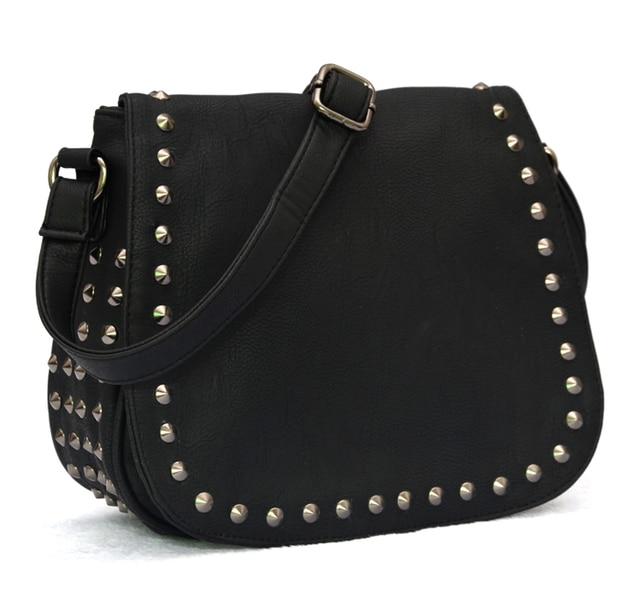 Mulheres mensageiro sacos de moda do punk rebite mulheres bolsa de ombro crossbody sacos para as mulheres bolsas femininas 2014 Novas bolsas