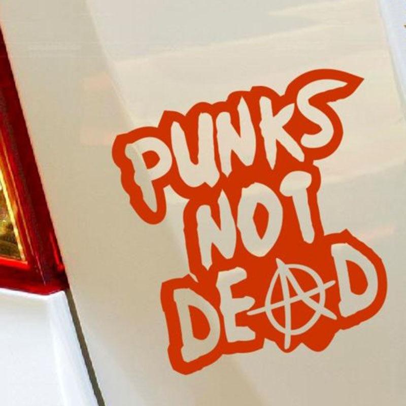 PUNKS NOT DEAD Bumper Sticker Decal Laptop Car Hobby Tunning