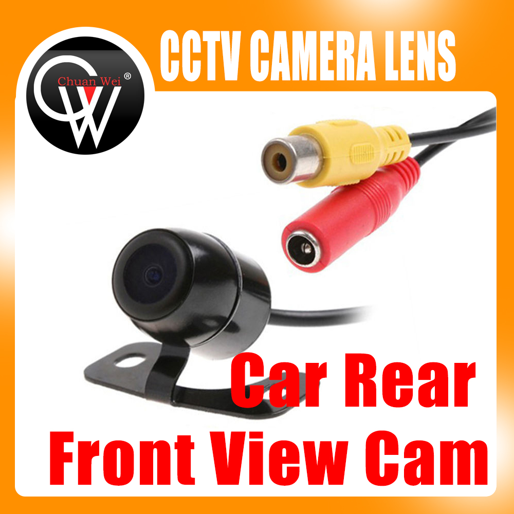 Free Shipping Car Rear Front View Cam Wide Angle Reversing Parking Security Camera Waterproof new wide angle fresnel lens car parking reversing sticker useful enlarge view angle fresenl lens