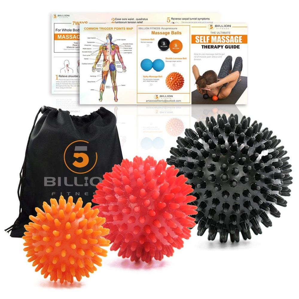 Procircle Fitness Ball Massage Set For Myofascial Release, Mobility & Physical Therapy - Great Neck & Foot Massage Balls