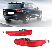 1Sets Car Tail Light Rear Bumper Reflector Lamps Overhead Decorative Lights Red Fog Light For VW Touareg 2011 2012 2013 2014