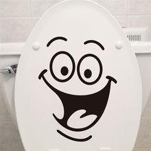 Сувенирный улыбкой сделай сам персонализированные холодильник стиральная лицо стикер туалет мебель