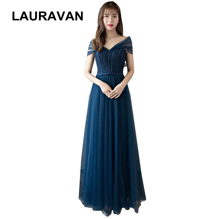 Long Sexy Tulle Bridemaid Girl Convertible Wrap Bridesmaid Navy Blue Dress Size 2 Formal Dresses 2019 Girls Teens Ball Gown
