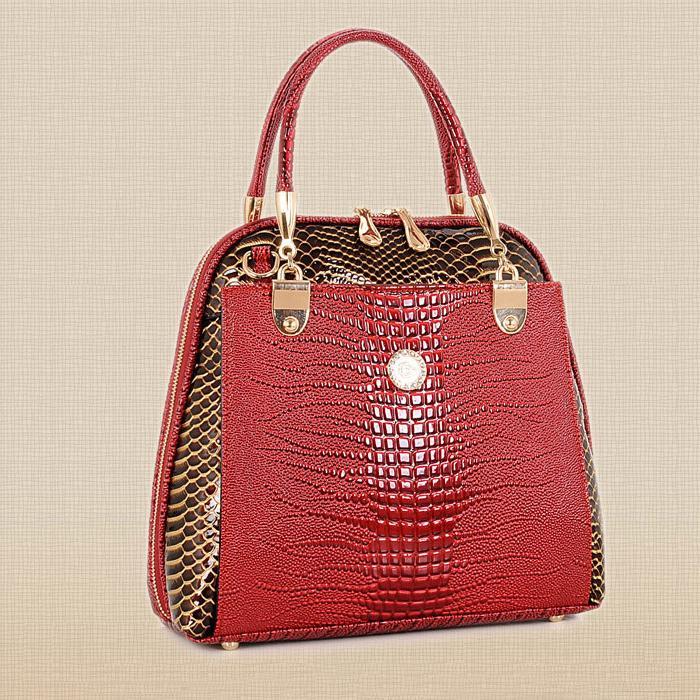 d5aad90ffadd Alligator Leather Bag luxury Women Handbags Famous Brand Women shoulder Bag  For fashion Women Bag Ladies Leather Handbag W0136