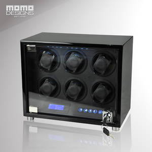 Winder Box Watches Automatic for 6 Display Storage Box Wooden with LED And LCD Touch Screen