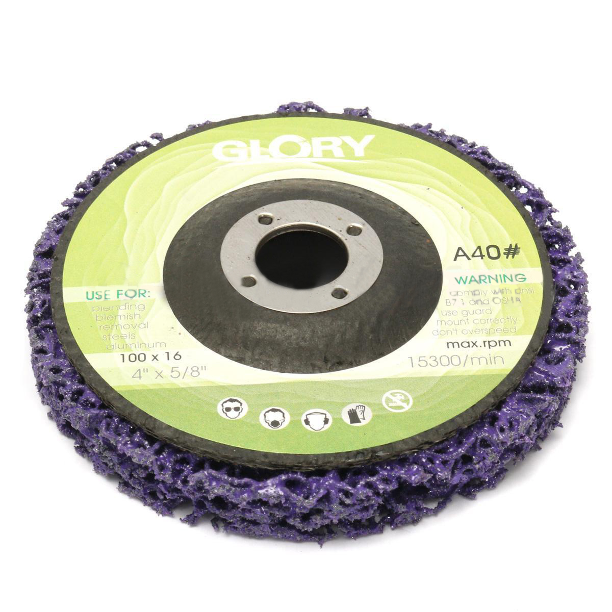 5 шт. прочный Поли полосы диск колеса 100*16 мм дерева, металла Краски удаления ржавчины чистке Абразивные инструменты для Болгарки mayitr