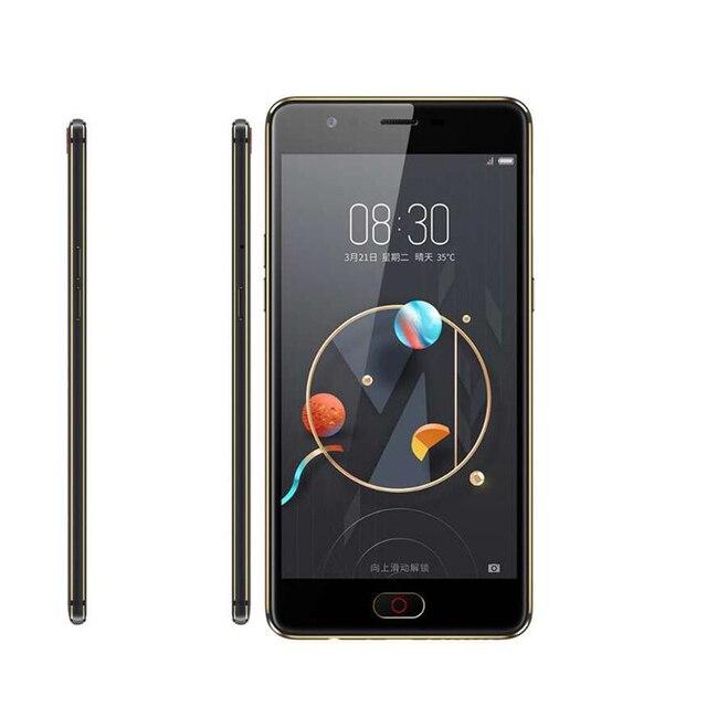 Nouveau téléphone Mobile dorigine ZTE Nubia M2 Lite MT6750 Octa Core 5.5 pouces 13.0MP 3000mAh Android avec identification dempreintes digitales 4G LTE Smartphone