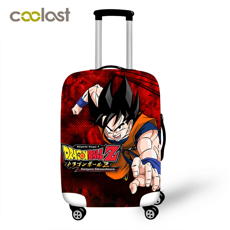Dragon Ball Suitcase Protective Covers Elastic Saiyan Goku Vegeta Luggage Cover For 18-32 Inch Trip Bag Cover Travel Accessories