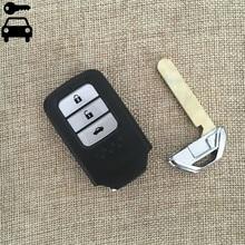 3 Botones Coche Plegable Llave A Distancia Con ID47 Chip de 434 Mhz para honda 9th crider acuerdo a distancia de coche bloqueo de teclas con el logotipo