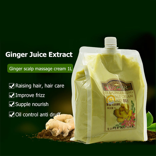 Natural Ginger Essence Nourishing Repair Damaged Hair Care
