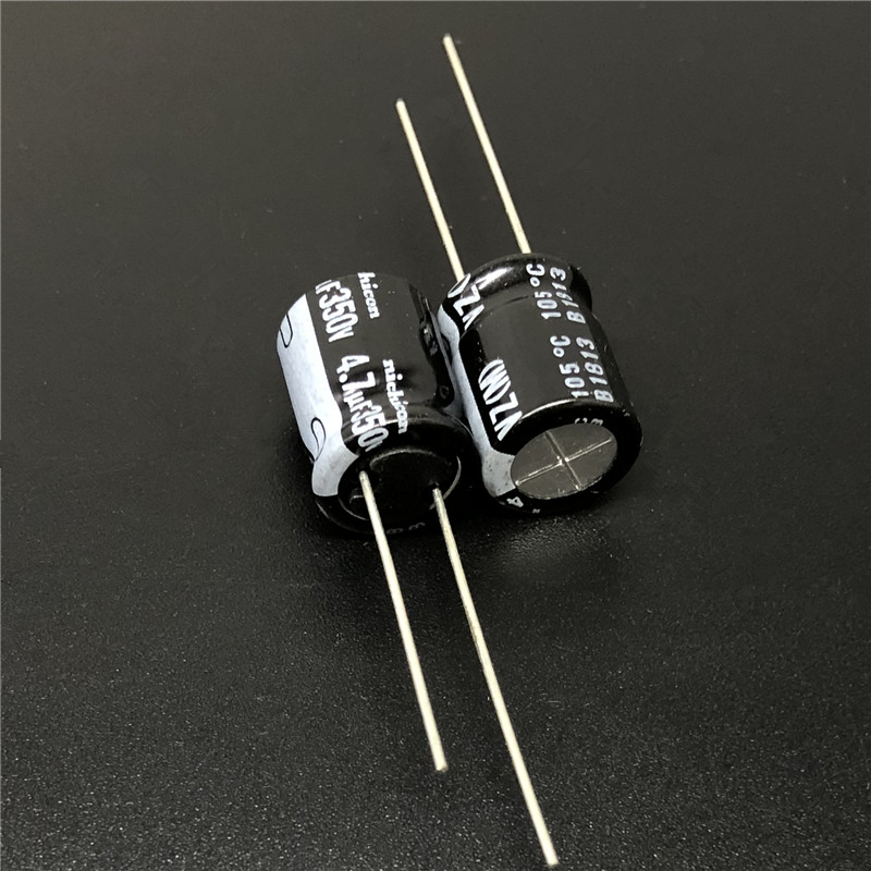 5pcs/50pcs 4.7uF 350V NICHICON VZ Series 10x12.5mm 350V4.7uF Wide Temperature Range Aluminum Electrolytic Capacitor