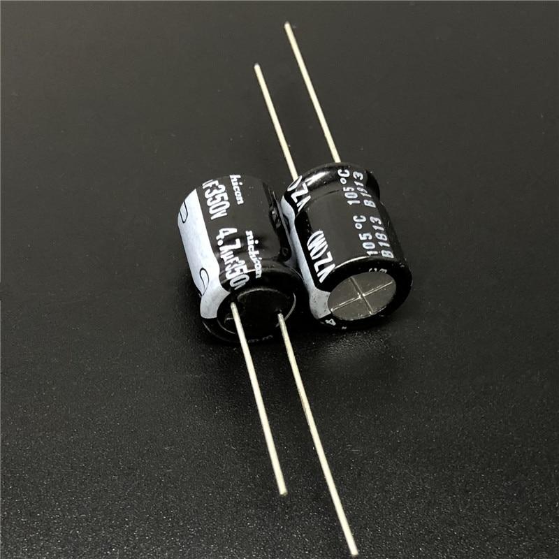 5pcs/50pcs 4.7uF 350V NICHICON VZ Series 10x12.5mm 350V4.7uF Wide Temperature Range Aluminum Electrolytic Capacitor