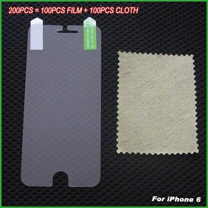 imágenes para 200 unids/l (100 Flim 100 Tela) arriba claro protector de pantalla anti arañazos protector de películas protectoras para iphone 6 6s 6g 4.7 pulgadas