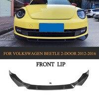 A Sytle Carbon Fiber Front Bumper Lip Spoiler Kit For Volkswagen Beetle 2 Door 2012 2016