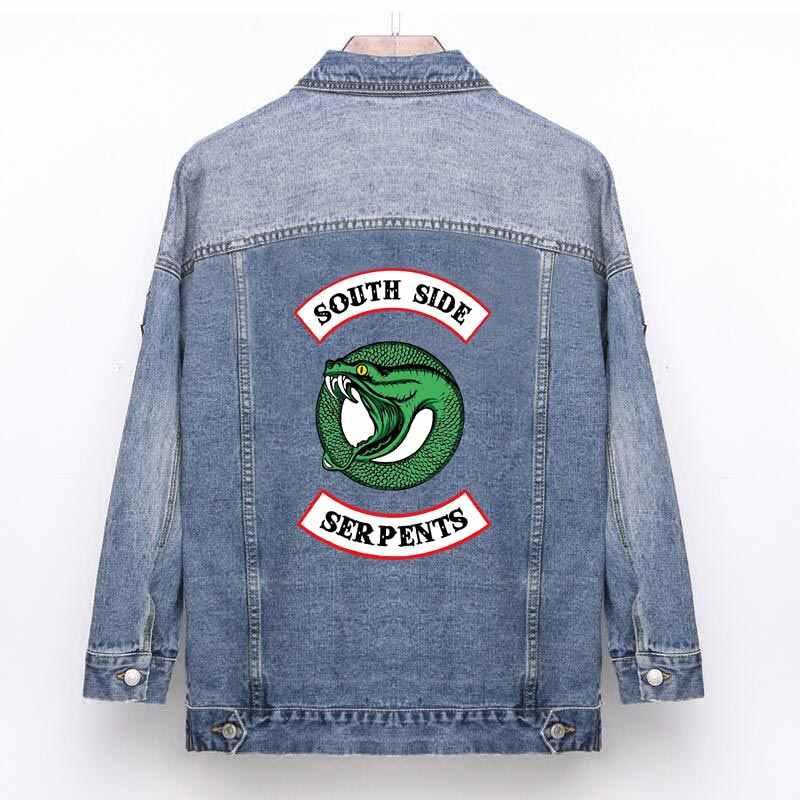 Красочные ривердейл южной стороне змеи гладить патчи для Костюмы много куртки термоклейкая заплата одежда в стиле змеи наклейка металлик ZH-04