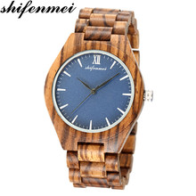 shifenmei s5534 quartz men & women watch wooden hot engraved core wrist band watches bewell men's women's wood engraving Fashion(China)