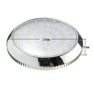 Image 2 - 37led 라운드 독서 램프 자동차 인테리어 돔 라이트 화이트 천장 조명 12 v 캐러밴 밴 택시 모터 홈 액세서리