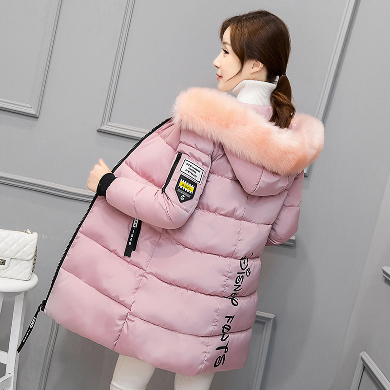 Hot Sale Women Winter Jacket 2017 Women Parkas Hooded Fur Collar Down Cotton Jacket Coat Large size Female Overcoat YAGENZ K443