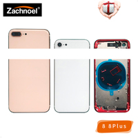 Chassis for iPhone 8 8G 8Plus Plus Back Housing Battery Door Cover Case Middle Frame Body with Glass Space Gray White Gold Red