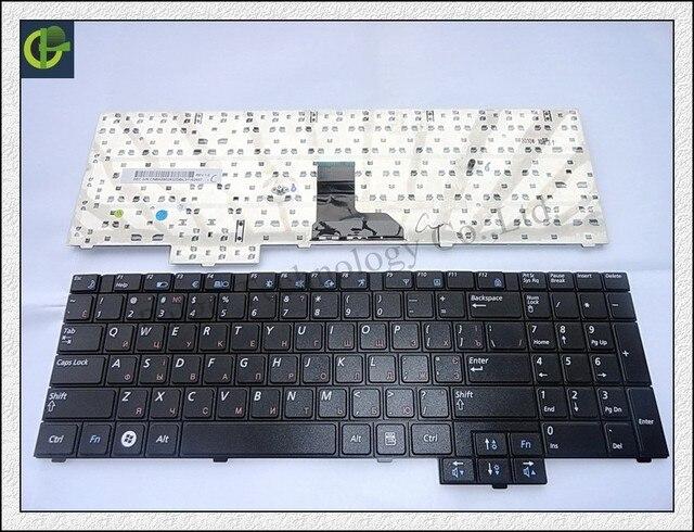 Tamanho longo teclado russa para samsung r519 np-r519 r719 np-r719 ru preto com numberpad