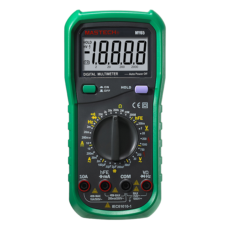 MASTECH MY65 High Precision 4 1/2 Digital Multimeter AC DC Voltage Current Ohm Capacitance Frequency Tester Meter mastech my68 handheld lcd auto range dmm digital multimeter dc ac voltage current ohm capacitance frequency meter