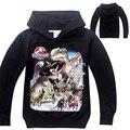 Kids Boys Hoodies Clothes Jurassic World Jackets Dinosaur Hoodie Cool Sudaderas Ninos 3D Dinosaurs Vetement Garcon Outerwears