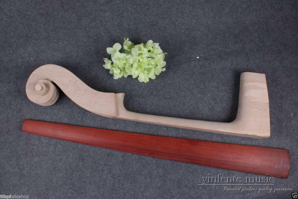 3/4 bois d'érable Double cou de basse palissandre basse touche accessoires de basse