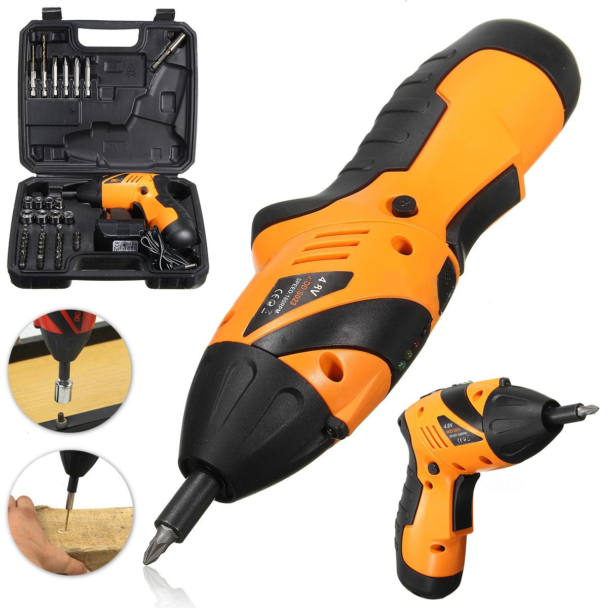 DWZ 45 in1 Power Tool Cordless Electric Screwdriver Drill Kit Set EU Plug workpro 18 in 1 magnetic screwdriver tool set hand tool kit with rack workshop master