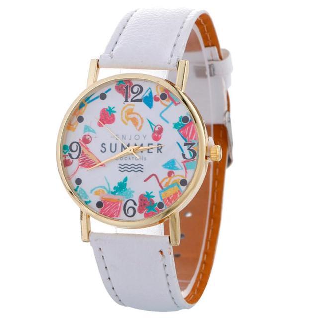 Quartz wristwatches Women Pattern Watch Woman Dress Watches Cute ...