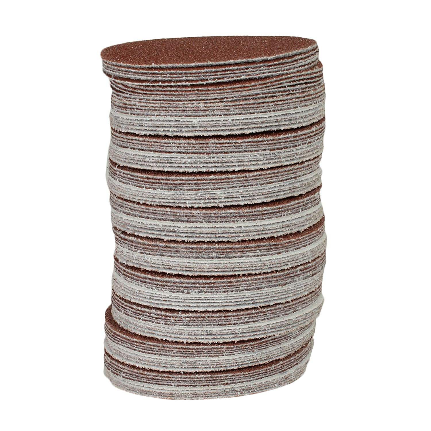 100x Hook And Loop DA Sanding Grinding Abrasive Pad Mixed Grit 3inch 75mm Dropshipping