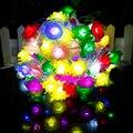 100 Светодиодов Цвет Розы ПРИВЕЛО Строка 10 метр Цветок Освещения 220 В ночник водонепроницаемый Свадьбы Рождество Фея Декора для дома VR