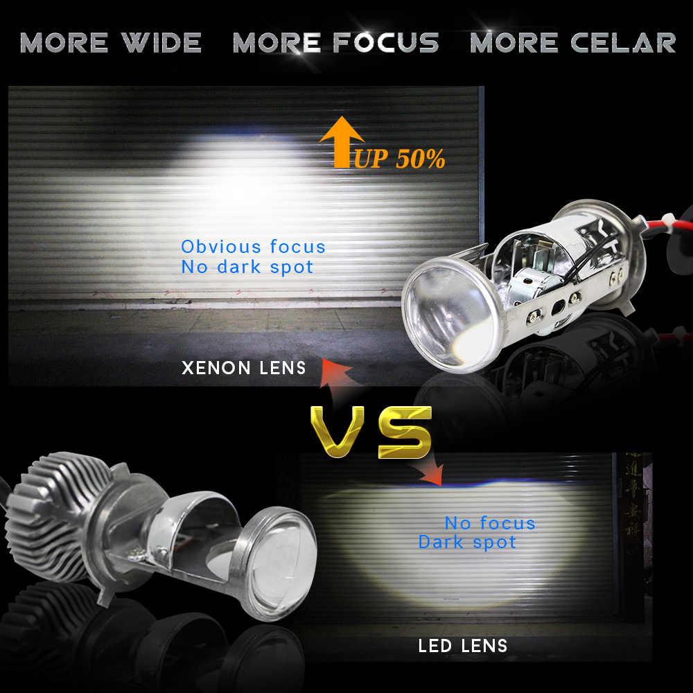 Buildreamen2 H4 Mini projektör Lens Hi/Lo bi-xenon HID Xenon kiti AC balast araba far yüksek düşük ışın 55W 4300K 6000K 8000K