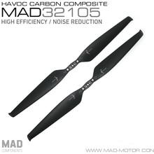 MAD HAVOC 32X10.5 CARBON & PLASTIC Polymer Folding propeller for rc multi-rotors VTOL Multicoptor Drone Quadcopter UAV