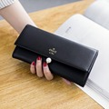 Candy Color Coin Purses Women Long Wallets Girls Big Leather Clutch Wallet Change Purse Korean Money Bag Ladies Coin Purse 2017