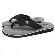 Hot Selling EVA Men's Shoe Air Mesh Slip-On Black Flip Flops Fashion Flat Casual Gray Anti-Slip Sandals Size 7-9 Free Shipping