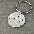 Chaveiro Constelação de Libra, Libra Signo Presente de Aniversário, horóscopo chaveiro, Jóia da astrologia, keychain Do Zodíaco