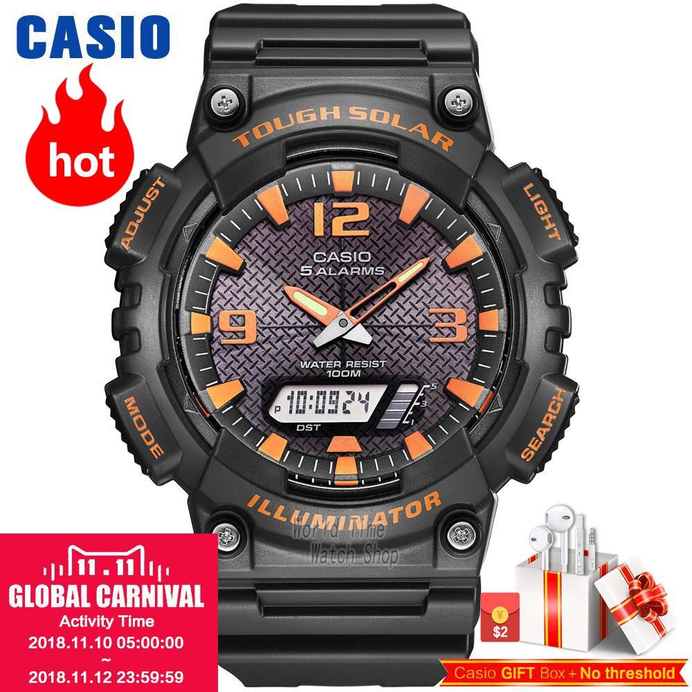 Часы Casio Analogue Мужские кварцевые спортивные часы развлеченные студенческие часы AQ-S810
