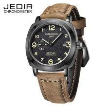 Relogio Masculino мужчины спортивные часы JEDIR марка хронограф кожаный ремешок мужской свободного покроя кварцевые часы мужские часы Montre Homme 1046