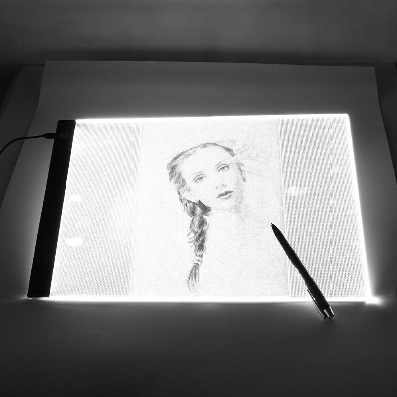 Graphics Tablet A3 A4 <font><b>A5</b></font> <font><b>LED</b></font> Drawing Tablet Thin Art Stencil Drawing Board <font><b>Light</b></font> Box Tracing Table <font><b>Pad</b></font> Three-level Dropshipping image