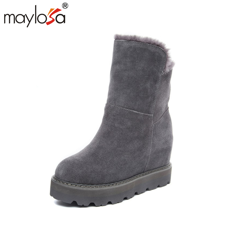 MAYLOSA High Quality Women Snow Boots slope woman increasing snow boots Winter Shoes for Women Free Shipping only true love high quality women boots winter snow boots