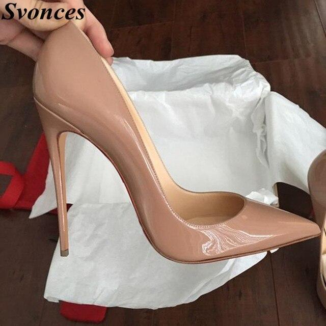 Ladies Designer Shoes Women So Nice Kate 12cm 10cm Patent Leather Black  Nude Heels Pigalle Fashion Wedding Shoes Women Pumps 78a37e9c48d5
