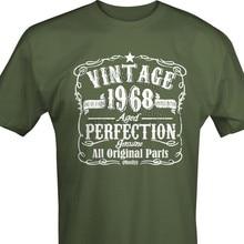 c7f69c19 Hot sale Summer Style Fashion VINTAGE 1968 Mens 50th Birthday T-shirt  Unisex 50 Years