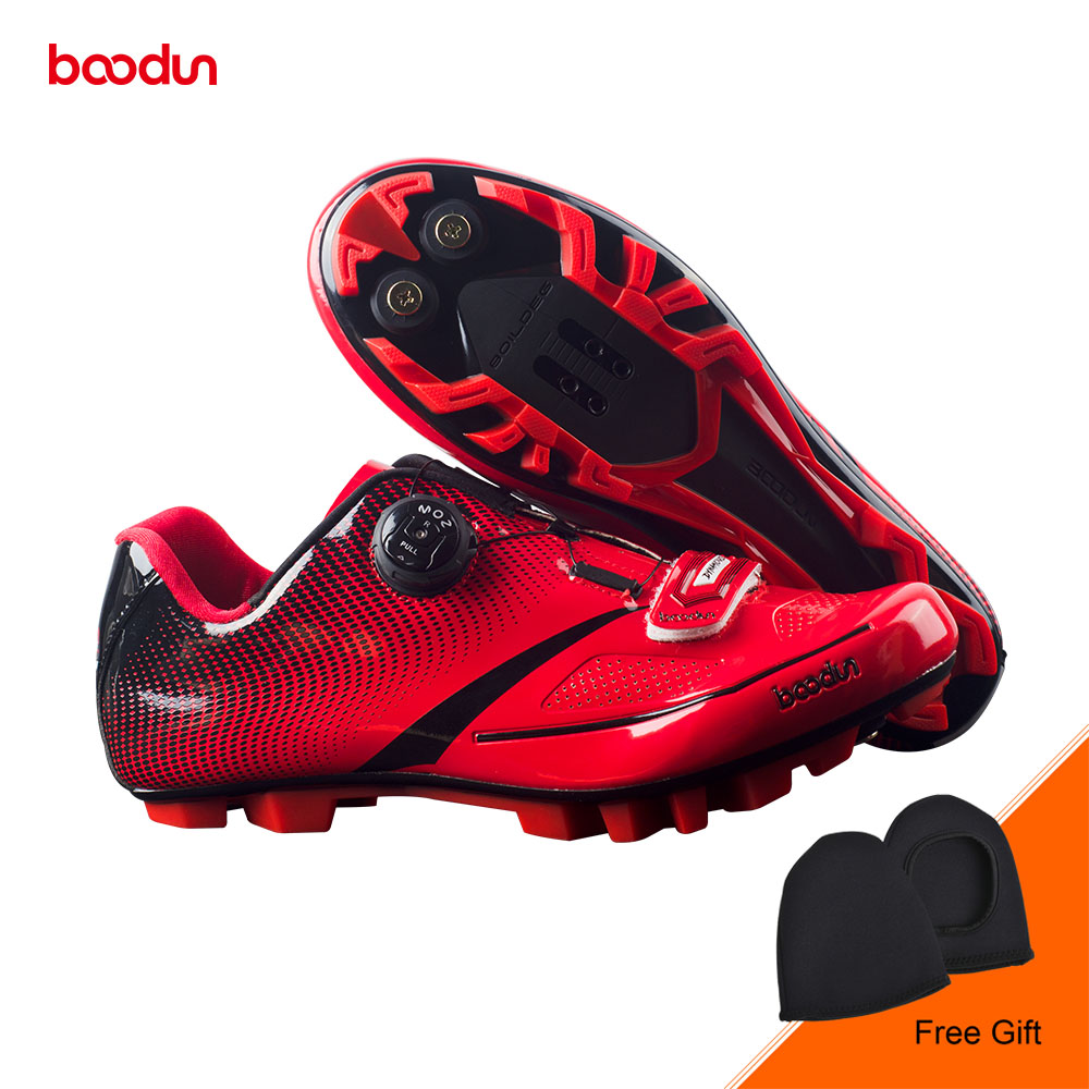 BOODUN New Men Bicycle Mountain Bike Shoes Non-slip Self-locking Cycling Shoes Mirror Superfiber mtb Shoes Sapatos de ciclismo santic new design cycling shoes men outdoor road bike shoes self locking shoes non slip bicycle shoes sapatos with 3 colors