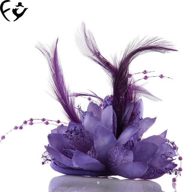 Ручной работы из бисера невесты свадебный головной убор цветок ткань наручные цветок брошь