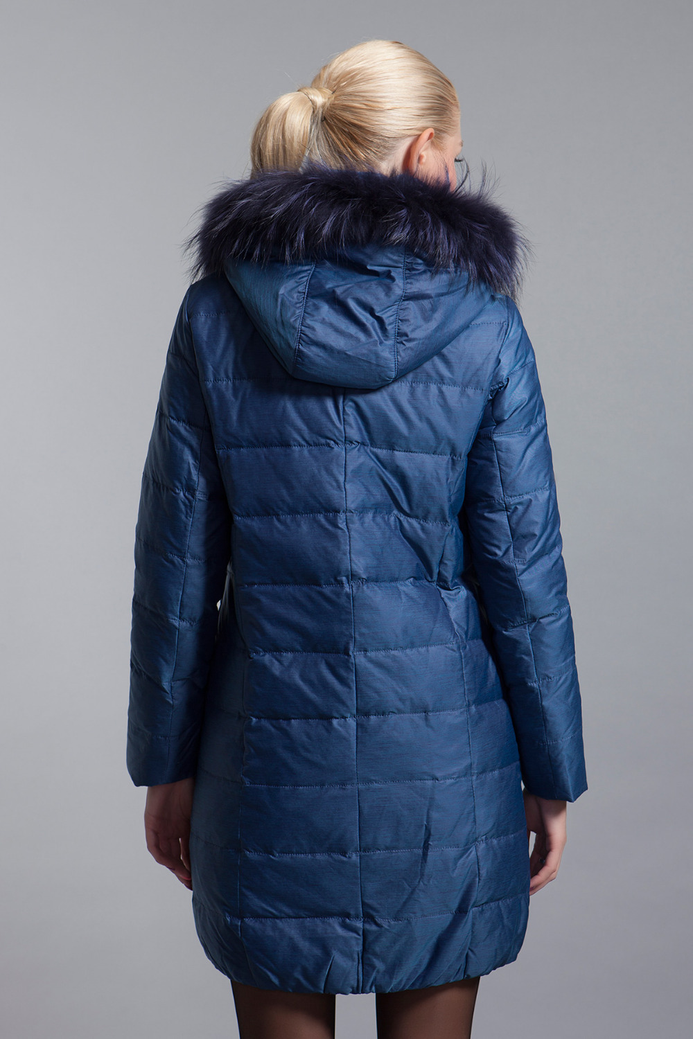BASIC-EDITIONS new winter down jacket with fur hood White Duck Down Winter Coat Women jacket - 13W-55 Free shipping