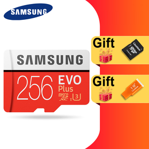 Image 2 - SAMSUNG 100% Original Micro sd Card 256G 128GB 64GB 100Mb/s Class10 U3 U1 SDXC Grade EVO+ flash card Memory Microsd TF/SD Cards