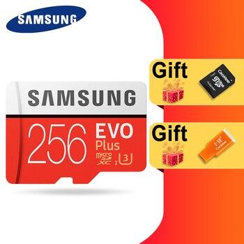 SAMSUNG 100% Original Micro sd Card 256G 128GB 64GB 100Mb/s Class10 U3 U1 SDXC Grade EVO+ flash card Memory Microsd TF/SD Cards