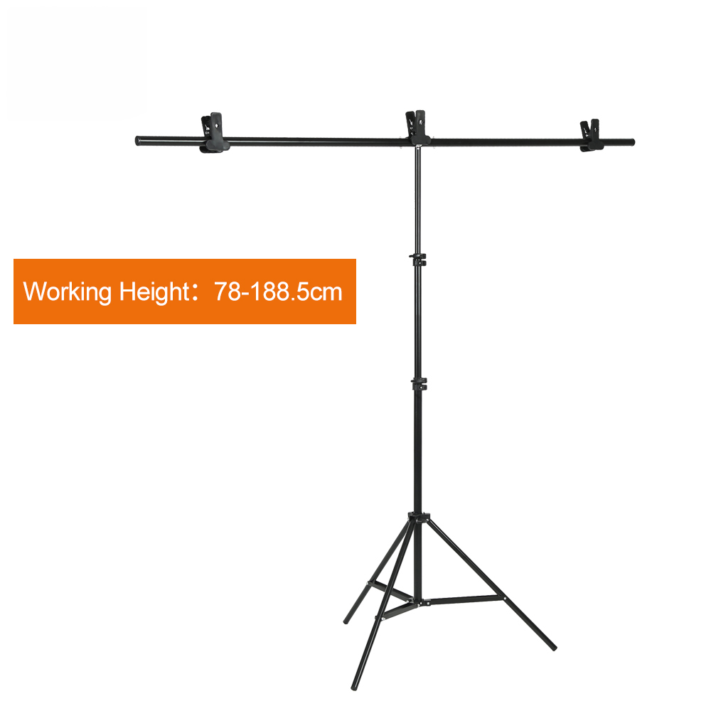 Studio Photography Max 152cm X 200cm Big PVC Backdrop Background Support Stand System Metal with 3